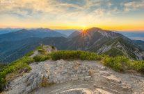 Blick vom Herzogstand in Bayern