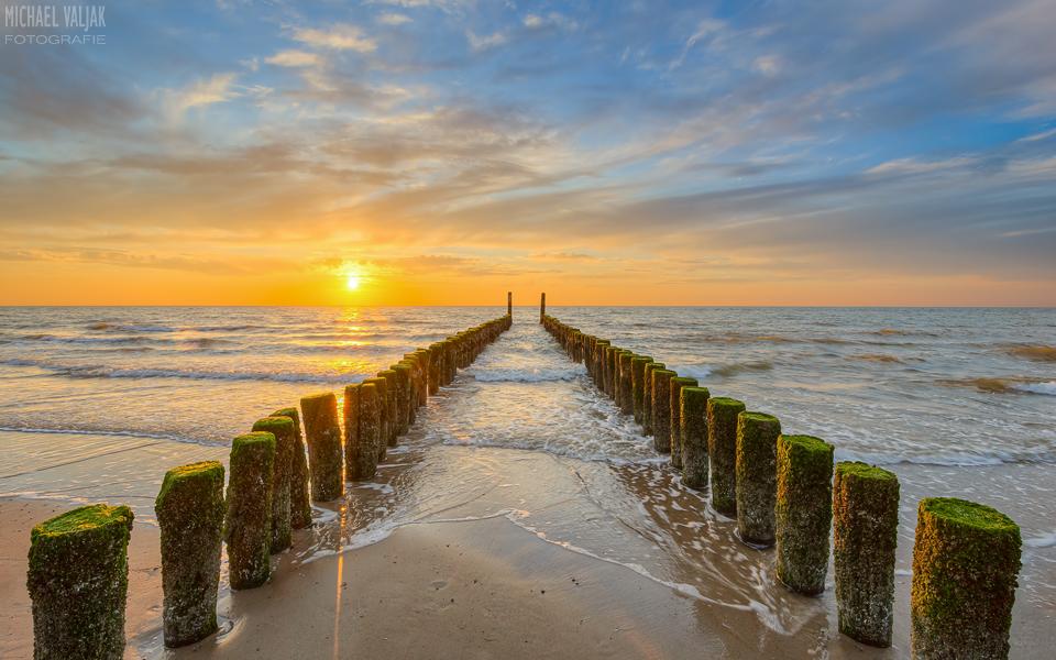 Sonnenuntergang am Strand von Domburg