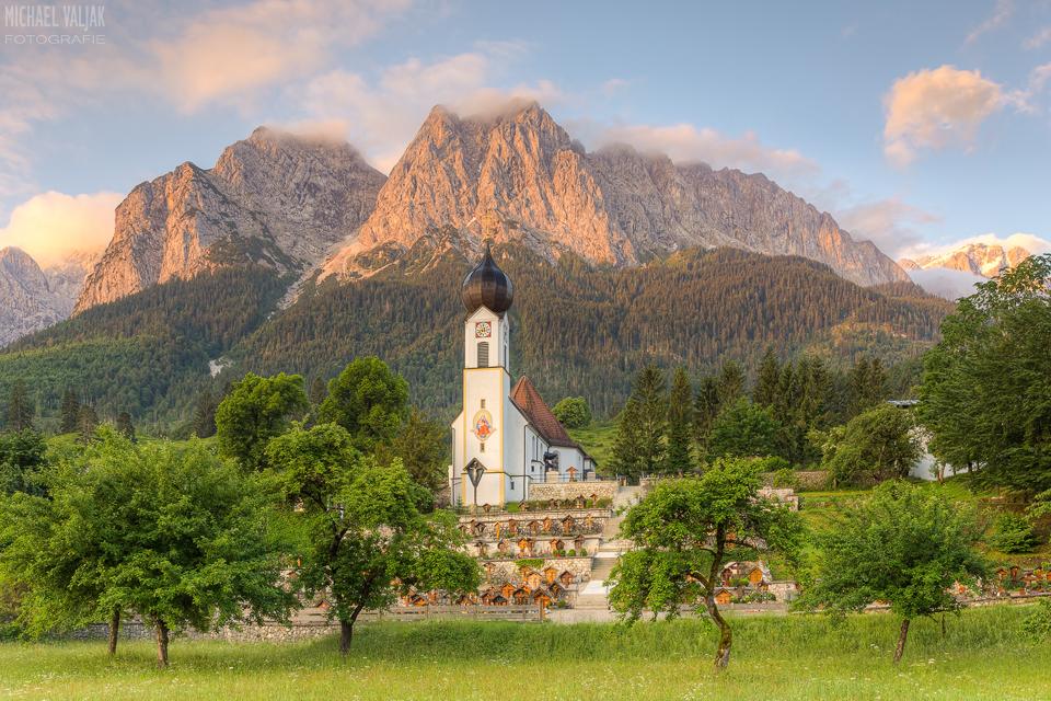 Alpenglühen in Grainau
