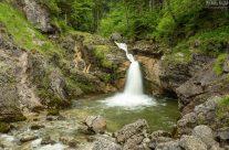 Bei den Kuhfluchtwasserfällen in Farchant