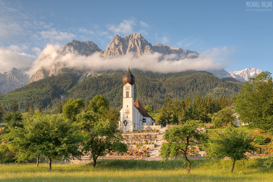 Morgenstimmung in Grainau in Bayern