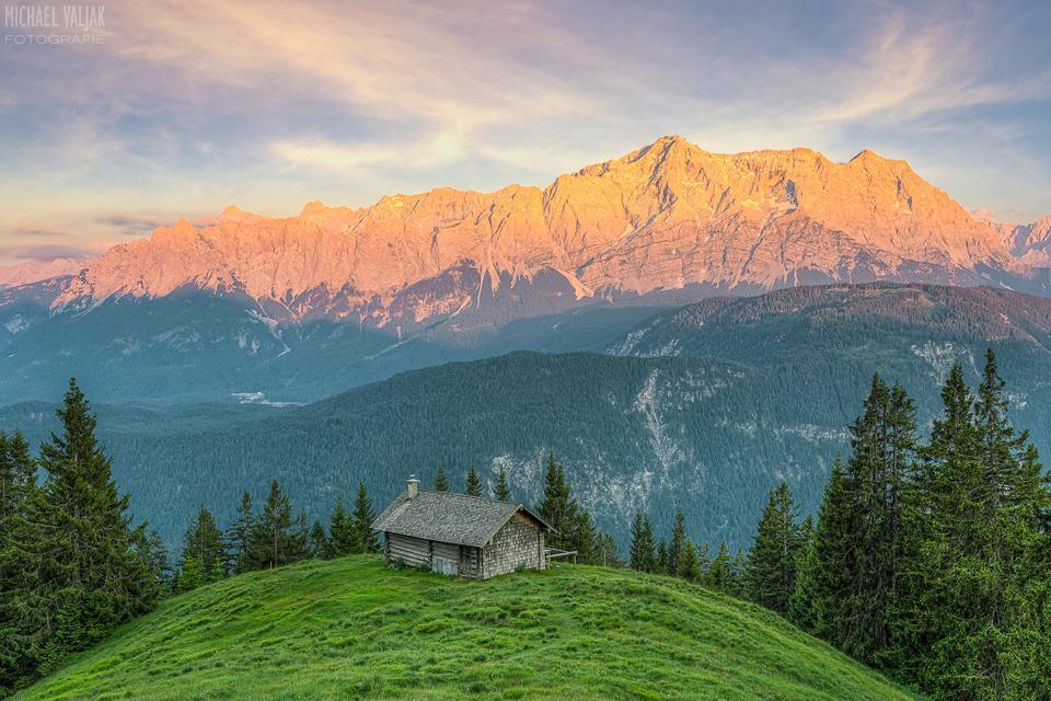 Alpenglühen am Wettersteingebirge