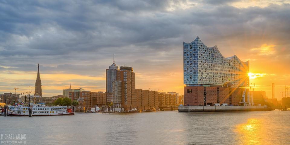 Panorama Elbphilharmonie in Hamburg
