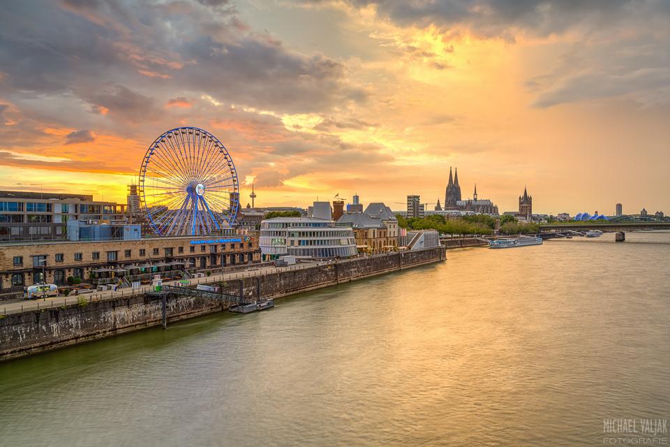 Die Skyline von Köln