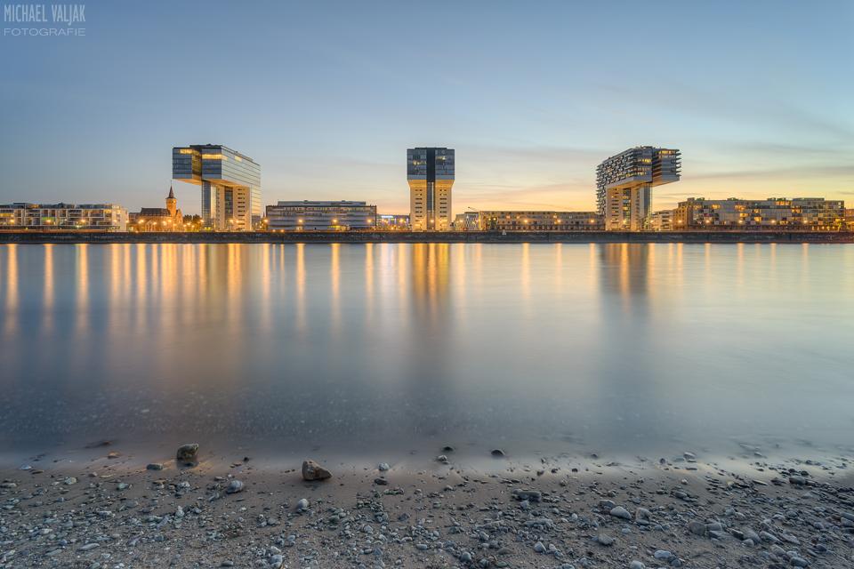 Kranhäuser Köln Frontalansicht