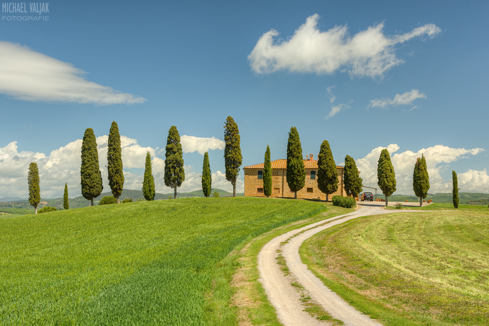 Landhaus bei Pienza in der Toskana