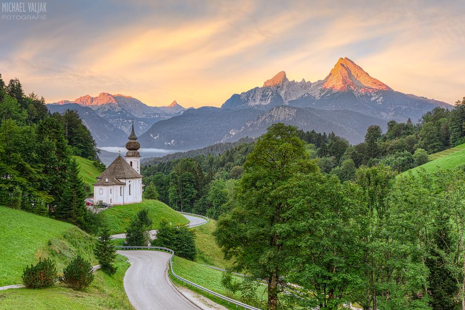 Maria Gern und Watzmann in Berchtesgaden