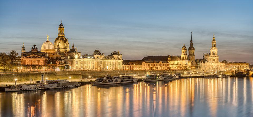 Die Skyline von Dresden