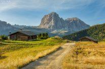 Blick zum Langkofel in Südtirol