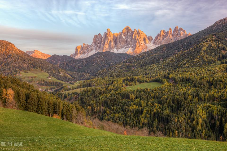 Villnösstal und Geislerspitzen in den Dolomiten