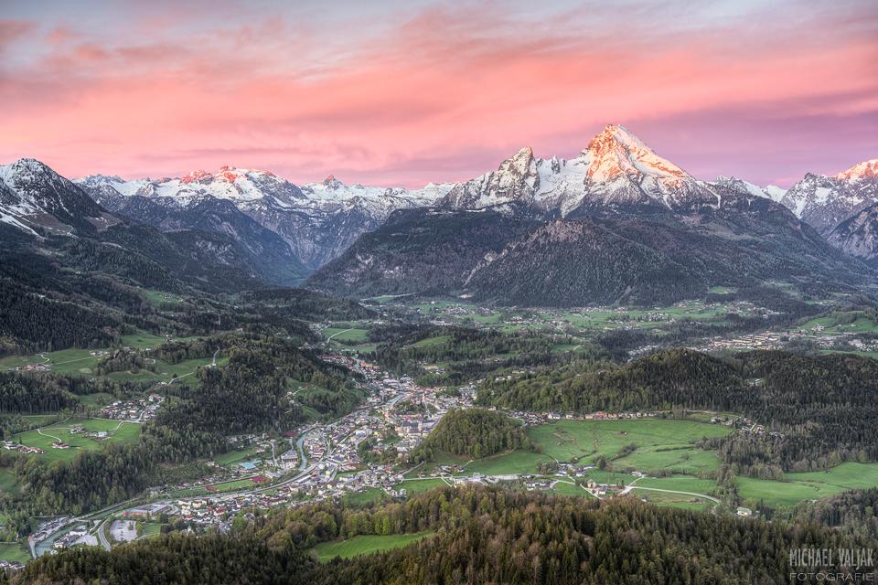 Berchtesgaden und Watzmann in Bayern