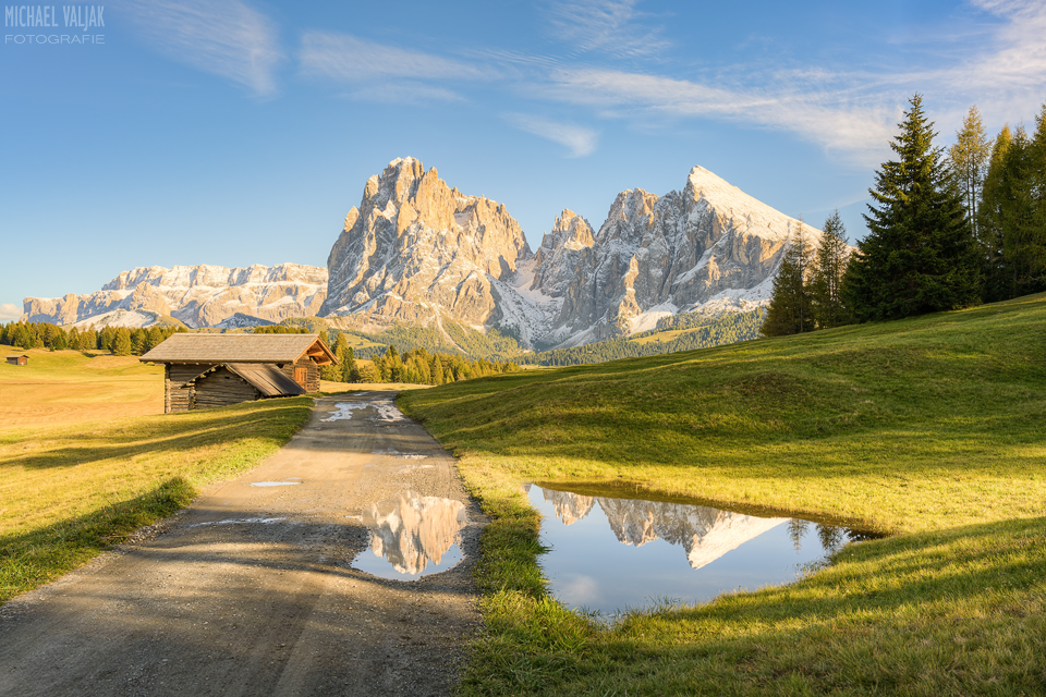 Auf der Seiser Alm in Südtirol