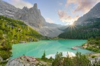 Lago di Sorapis in den Dolomiten