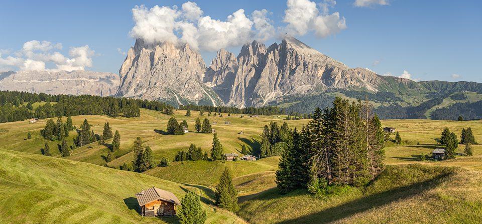 Sommer auf der Seiser Alm in Südtirol